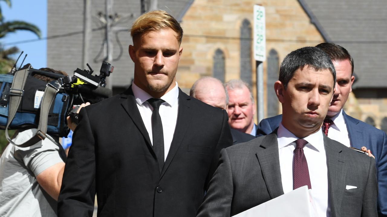 Dragons player Jack de Belin has been ruled out of the Dragons' trial with a chest complaint. Picture:  Dean Lewins/AAP