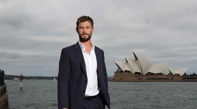 Chris Hemsworth in Sydney. Picture: News Corp