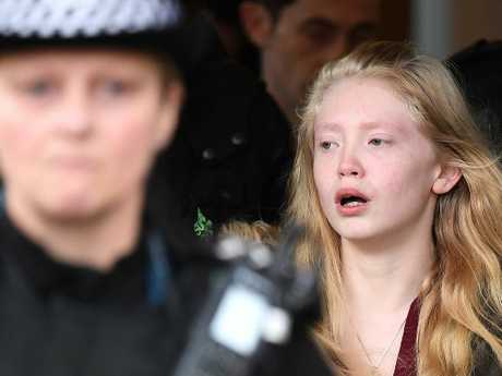 Alesha MacPhail's mother, Georgina Lochrane leaves Glasgow High Court. Picture: Jeff J Mitchell/Getty Images