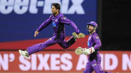Qais Ahmad of the Hurricanes was flying at the end of the BBL|08 season. Picture: AAP