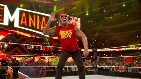 Hulk Hogan in the ring for Wrestlemania. Picture: Supplied