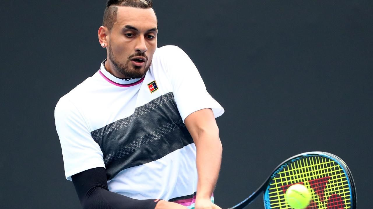Nick Kyrgios was back in the bad books.