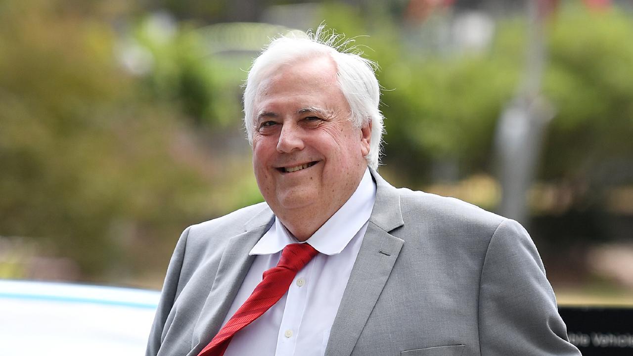 Businessman Clive Palmer arrives at court in Brisbane on Thursday. Picture: Dan Peled/AAP