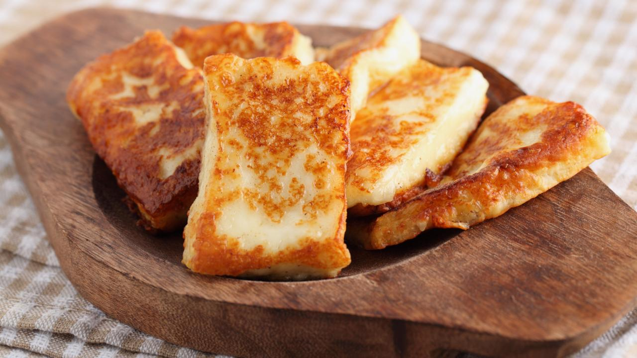 Fried halloumi is a crowd favourite, so why not crumb it and sell it in bulk?