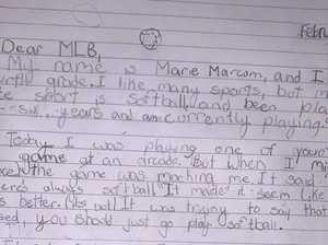 9yo's brilliant note after brutal rejection