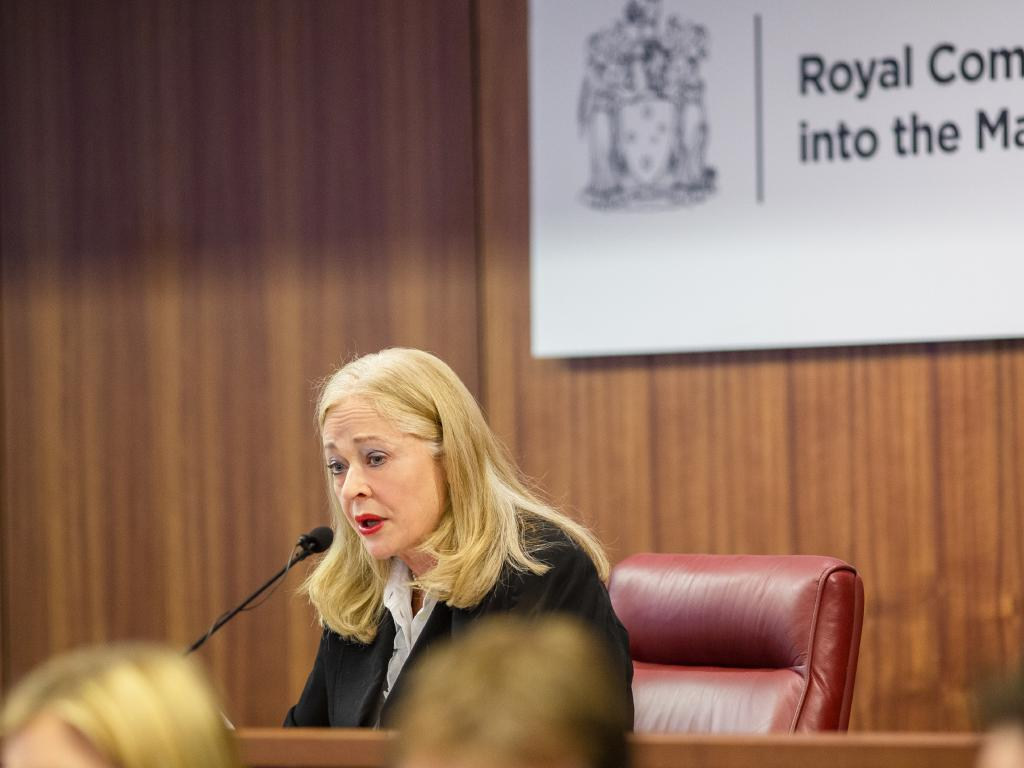 Royal Commissioner Margaret McMurdo speaking during the Royal Commission into Management of Police Informants in Melbourne. Picture: Royal Commission into Management of Police Informants