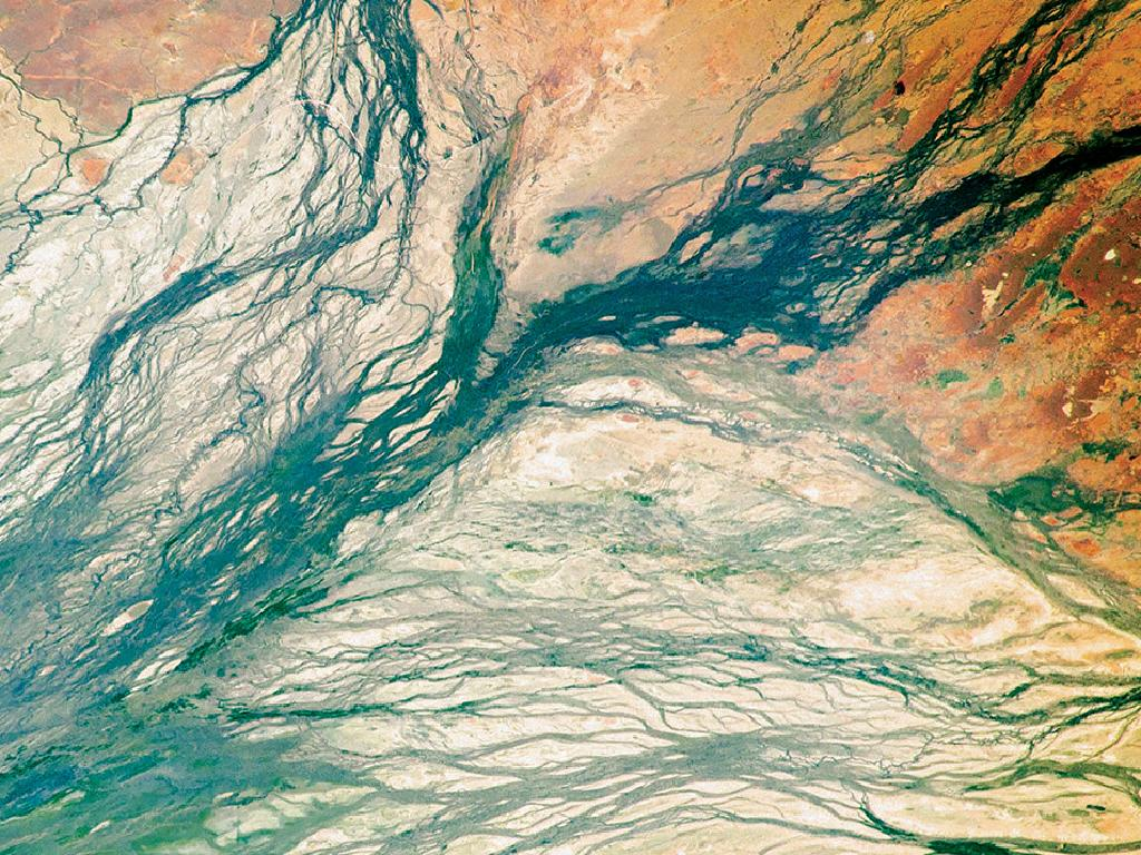 The continent's vast natural beauty makes for good subject matter from space.