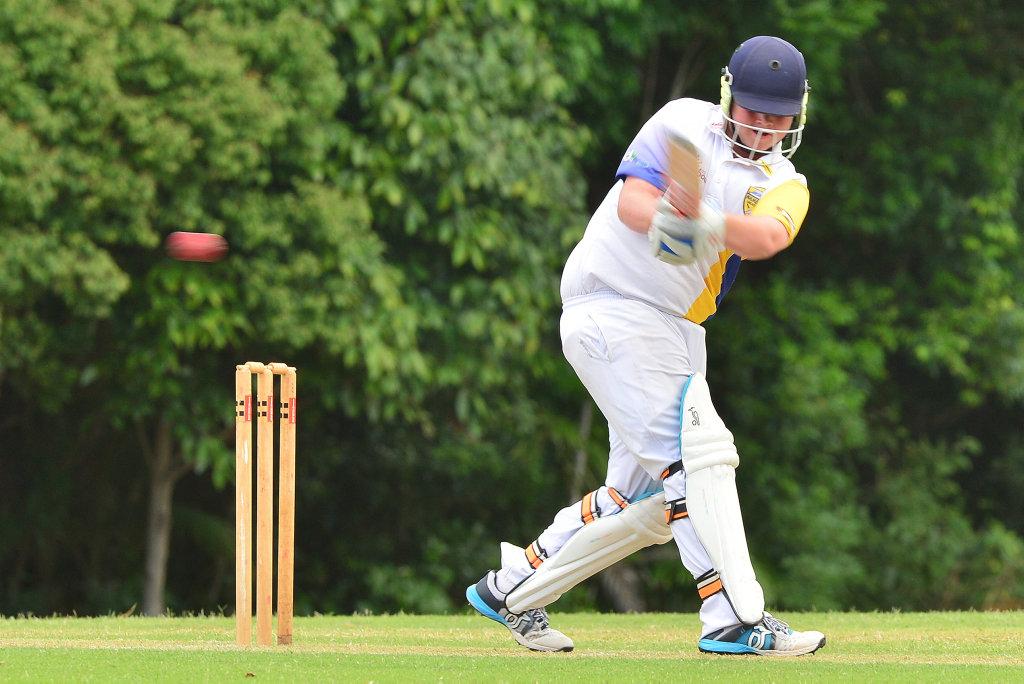 Image for sale: Under 15 cricket action at Matthew Flinders between Matthew Flinders and Nambour. Lachlan Braund.