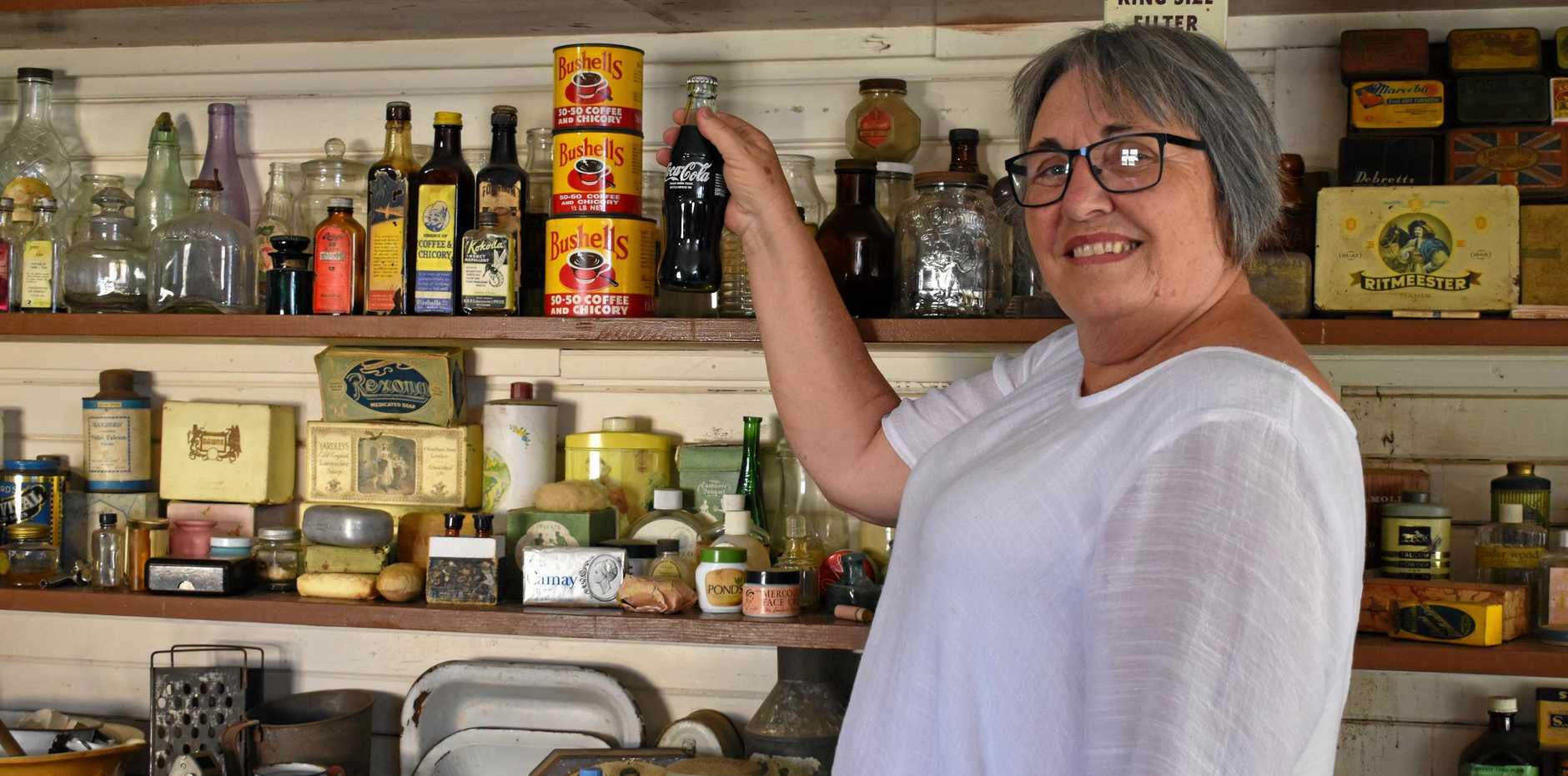 HISTORY: Gatton and District Historical Village member Vera Wheeler in Mrs Malcolm's Tuckshop, which was located on William Street, Gatton in the 1920s.