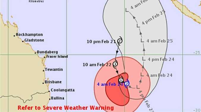The latest tracking map Cyclone Oma by the Bureau of Meteorology shows it deteriorating into a low pressure system by Saturday afternoon.
