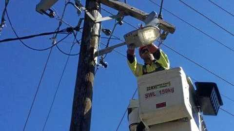 STAY SAFE: Essential Energy crews are repairing damage to powerlines caused by winds coming from Cyclone Oma and ask everyone to stay clear of downed lines.