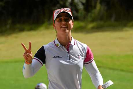 Overnight leader Nuria Iturrios is keeping upbeat despite a rough start on day three of the 2019 Pacific Bay Resort Australian Ladies Classic.