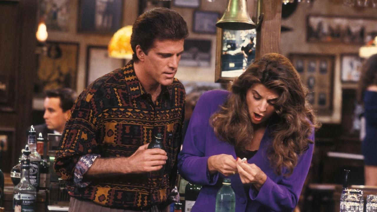 Nice shirt, Ted. (With co-star Kirstie Alley in Cheers)
