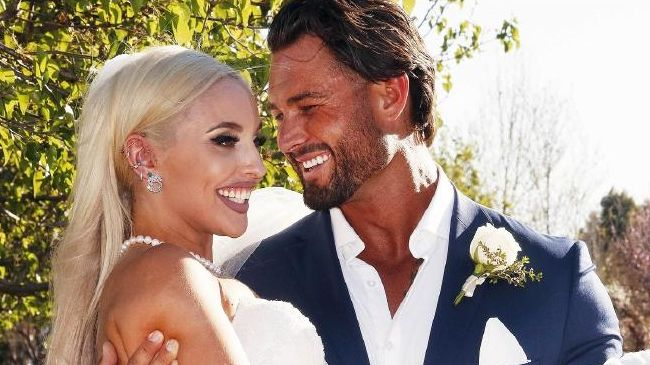 Supplied images of Married At First Sight contestants Sam and Elizabeth. Pic: Nigel Wright / Channel Nine.