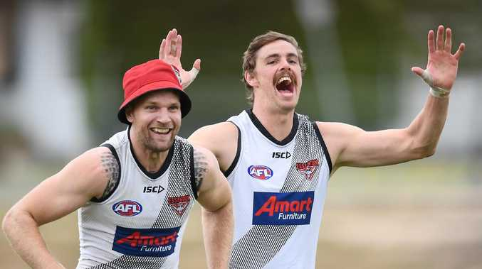Jake Stringer is almost as excited at the prospect of Joe Daniher's return as the man himself. Picture: Getty Images