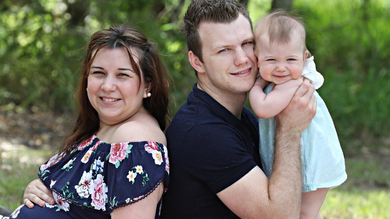 Jo and Jeff Horn with Isabelle. Picture: Annette Dew