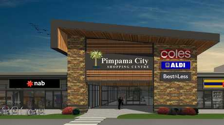 Artist's impression of Pimpama City shopping centre.