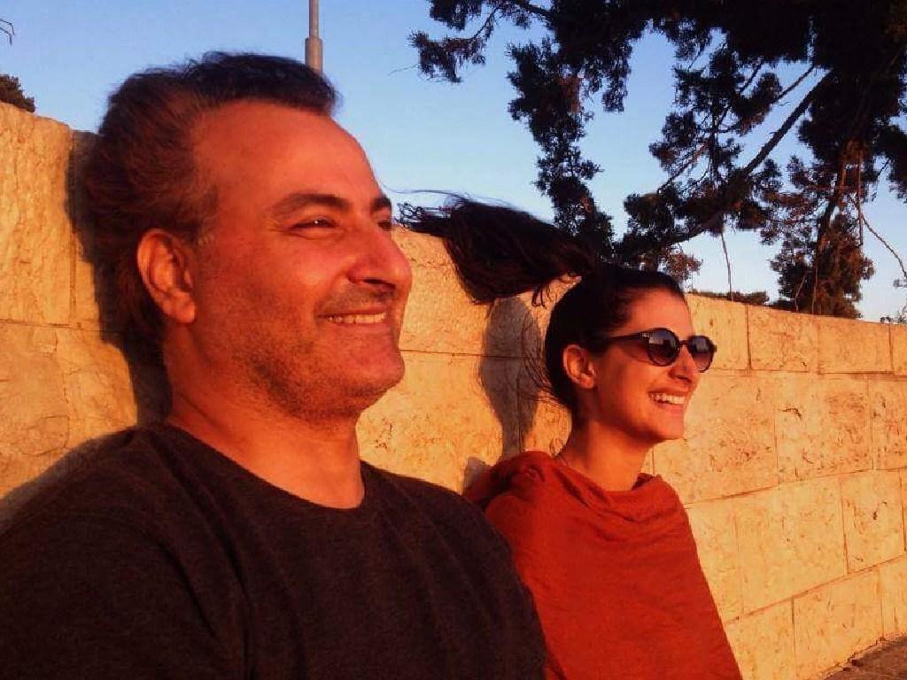 Hazem Hamouda with daughter Lamisse.