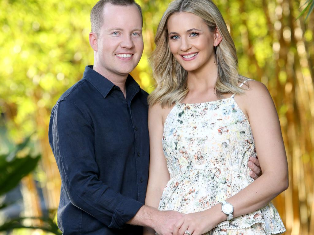 Channel 7 presenter Kendall Gilding with husband Tim Morgan. Picture: Steve Pohlner/AAP
