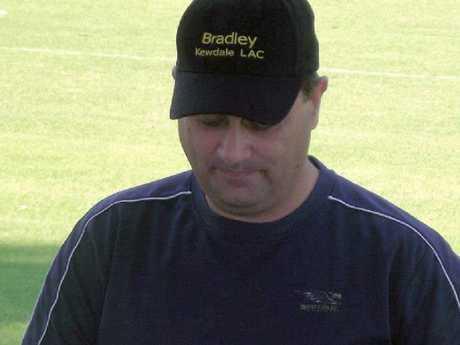 Bradley Edwards in his Kewdale Little Athletics Club cap.