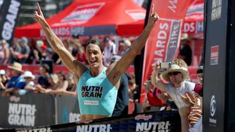 Ali Day claims a Nutri-Grain series round win. Picture: Supplied