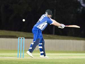 Tim Curtis bats for University. TCI T20 final