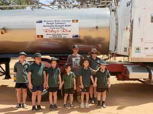 Drought-buster, 14, gets hero's welcome at outback school