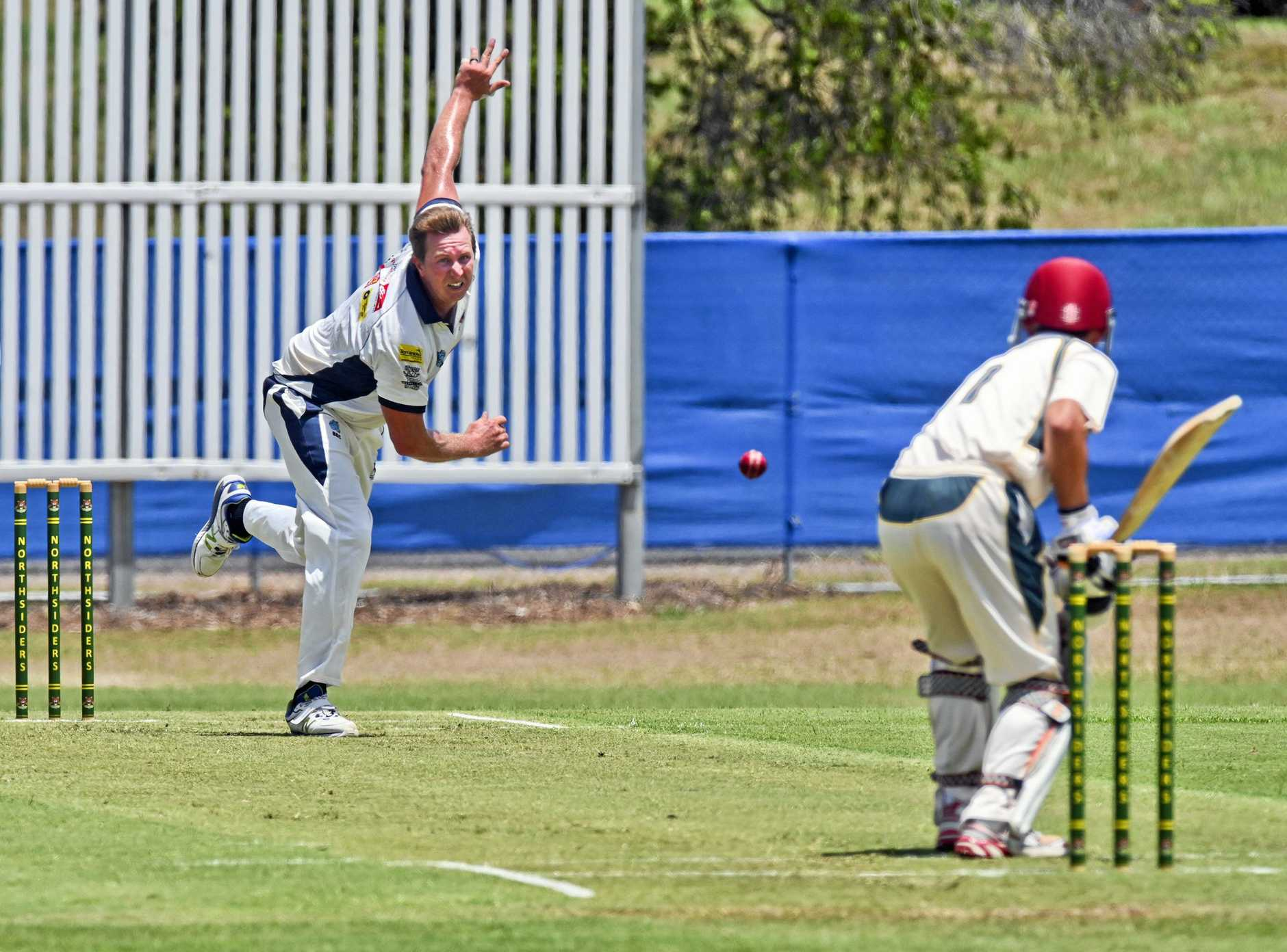 Laidley's Ben Gibson put in a strong bowling performance against Centrals.