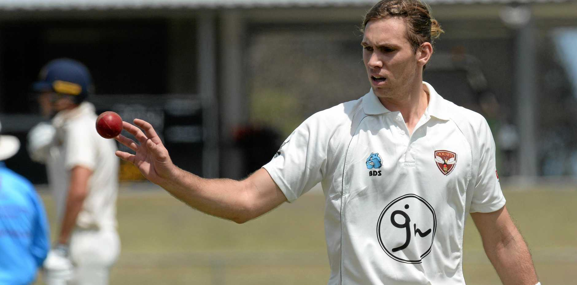 Adam Smith took four wickets in the Hornets' win over Sandgate-Redcliffe on Saturday.