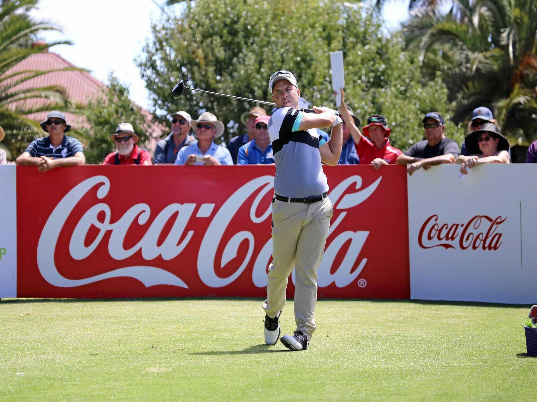 Queensland PGA Championship leader Daniel Nisbet.