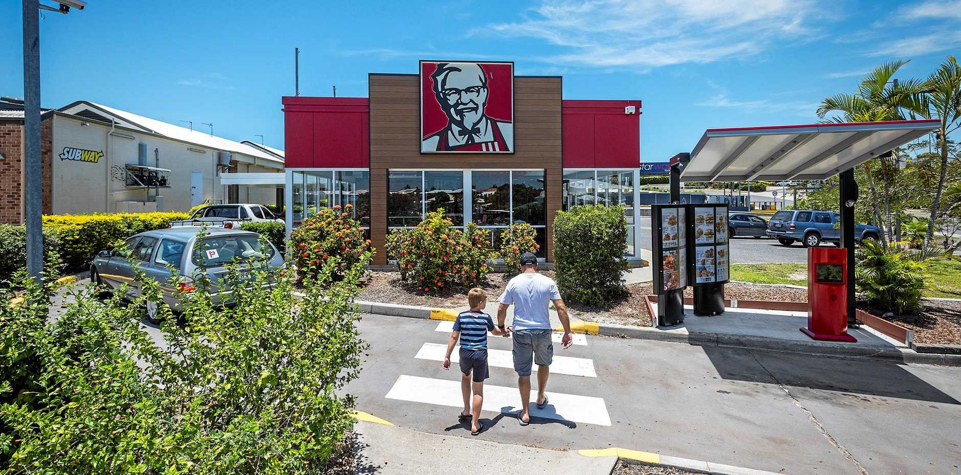 The incident happened near KFC at Tannum Sands, the court was told.