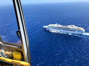 Marathon effort from CQ Rescue to winch patient from cruise