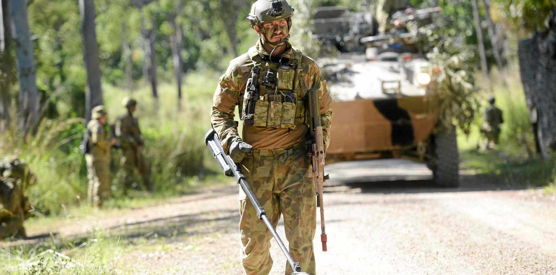 ROADWORKS NEEDED: Soldier training like this image captured of Exercise Hamel at the Shoalwater Bay Military Training Area will be safer once money is provided for the upgrade Stanage Bay Road.