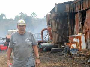 Burning rubbish starts Wooroolin grass fire