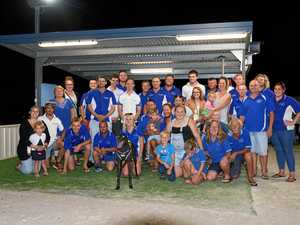 Cricketers hit greyhound track for charity