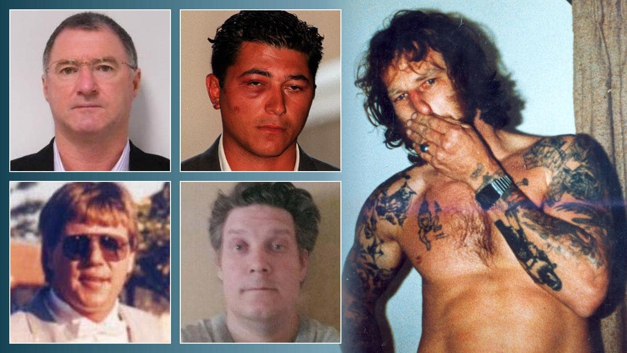 Fugitives, clockwise from top left, Graham Gene Potter, James Dalamangas, John Victor Bobak, Jonathan Dick and Stuart Pearce.