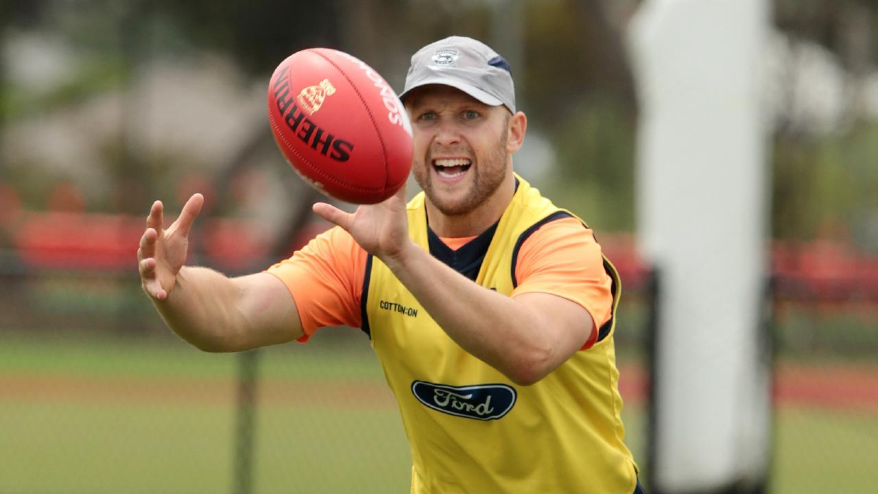 Gary Ablett at Cats training. Picture: Alison Wynd