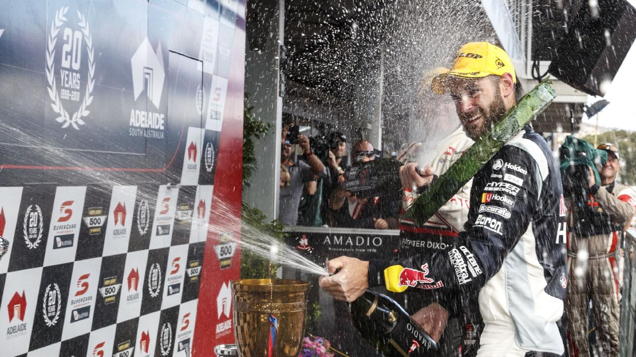 Shane van Gisbergen of Red Bull Holden Racing Team completes the double at last year's Adelaide 500. Picture: Mark Horsburgh/EDGE Photographics