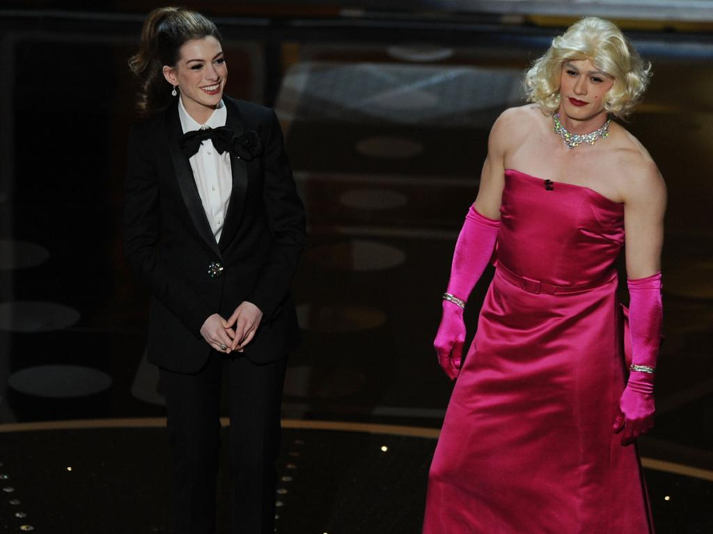 An awkward pair. Anne Hathaway and James Franco during their 2011 Oscars hosting gig.