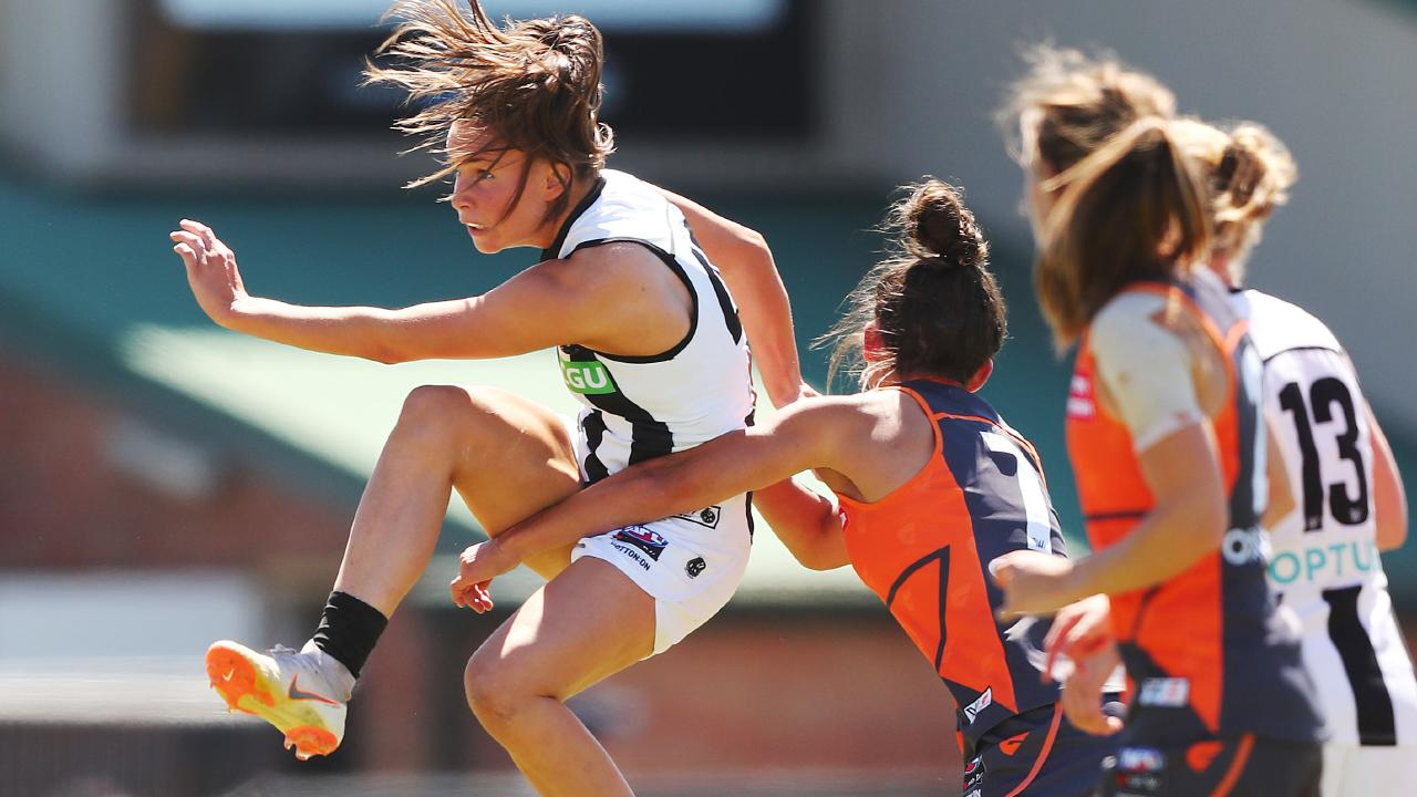 Sarah Dargan kicked a goal and was one of the Pies' best in the loss. Picture: Getty Images