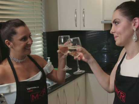 My Kitchen Rules beauty queens Veronica and Piper had high hopes.