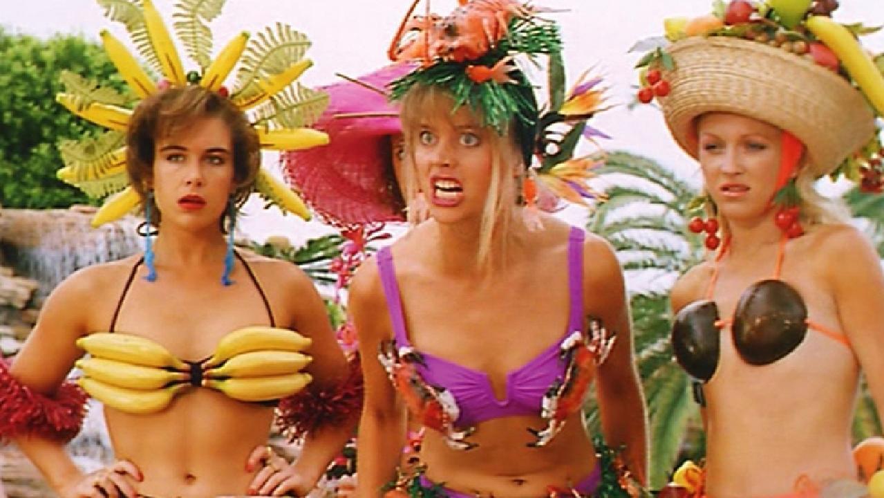 "Grandison, far left, with fellow ""mean girls"" Sophie Lee and Belinda Jarrett."