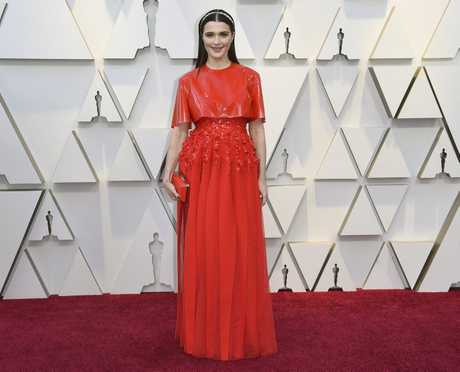 Rachel Weisz arrives at the Oscars at the Dolby Theatre in Los Angeles.