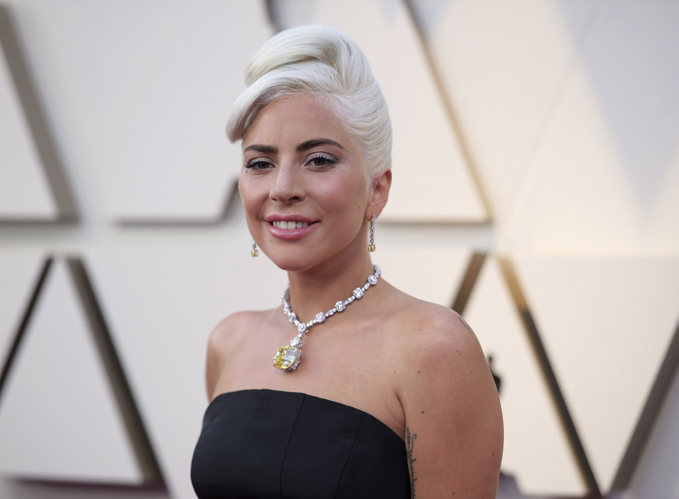 Lady Gaga arrives at the Oscars at the Dolby Theatre in Los Angeles.