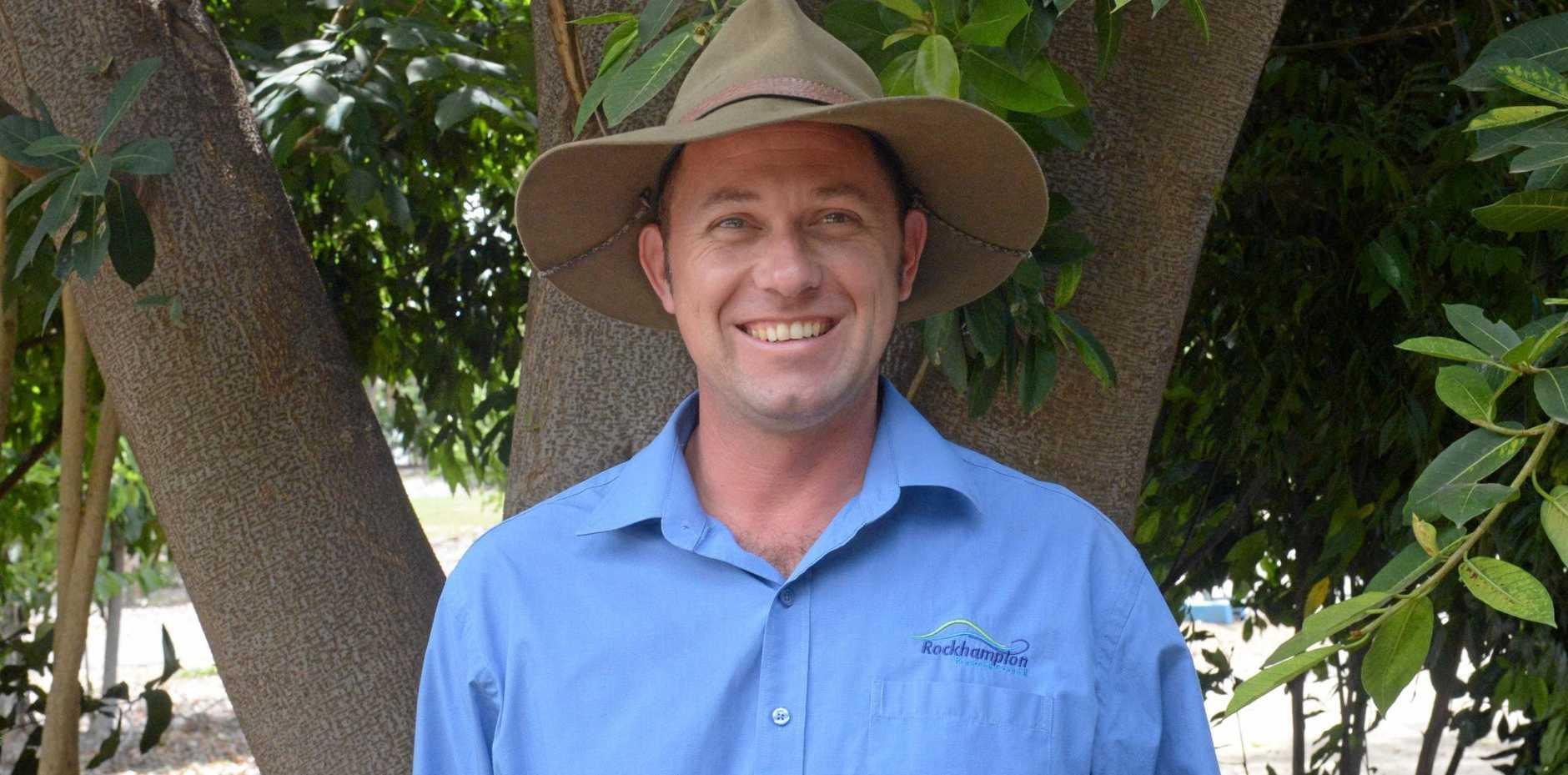 GREEN THUMB: Michael Elgey is the new curator at Rockhampton's Botanic and Kershaw Gardens