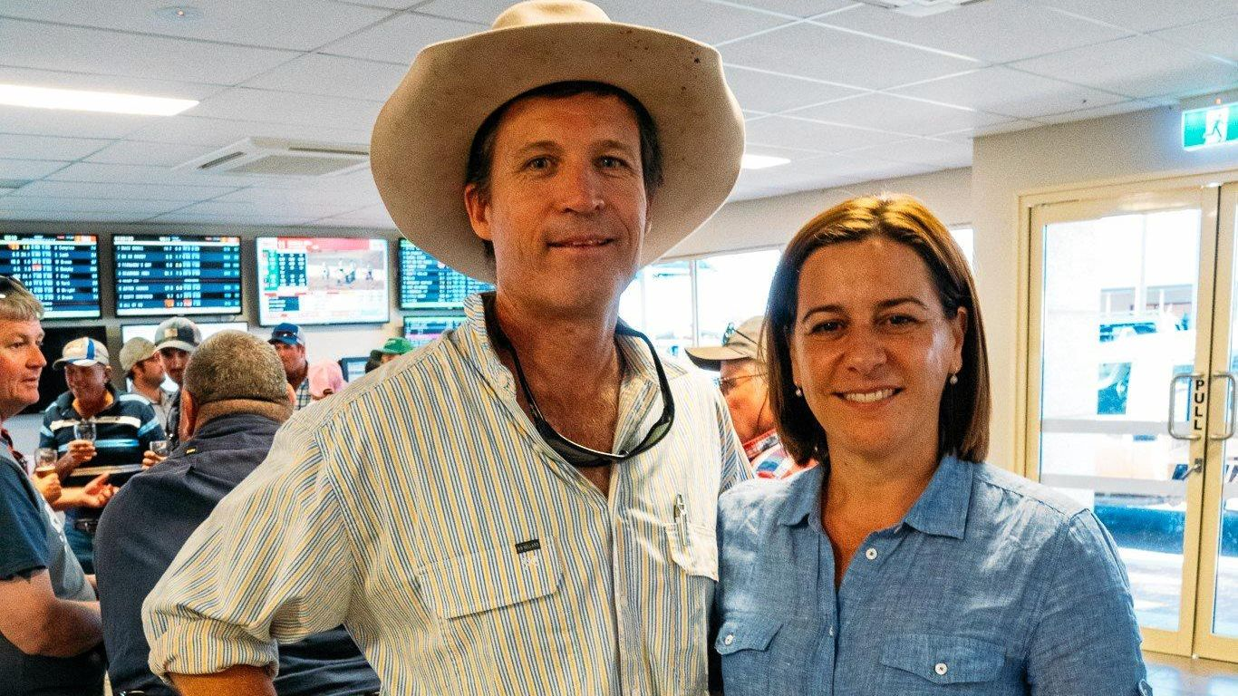 Bill Roughan and Deb Frecklington.