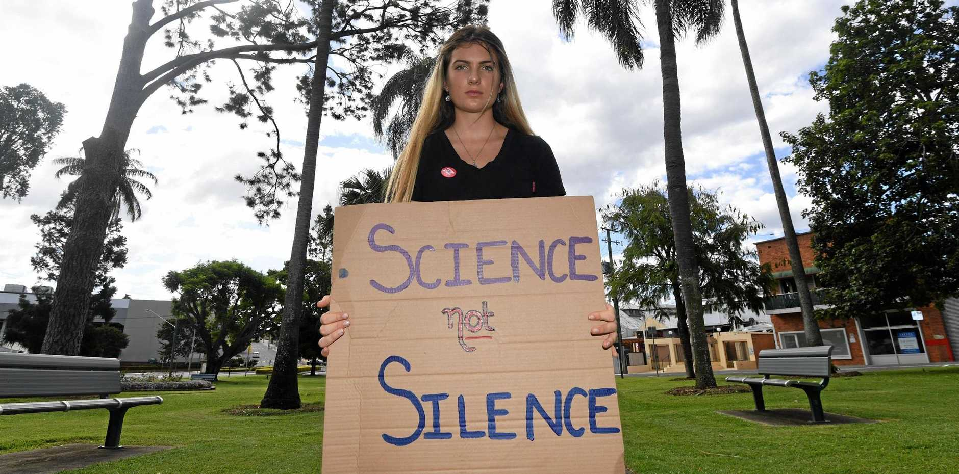 Gympie student Shellie Joseph, who's preparing to lead her peers on strike next month.