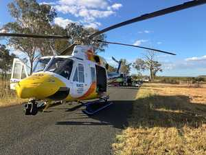Motorbike rider in hospital after losing control of vehicle