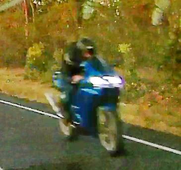 TOO FAST: Police are appealing for information about this motorcyclist, who was detected along Goodwood Rd travelling at 175km/h travelling towards Childers.