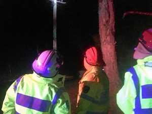 Power back on after pole fire sparks cuts